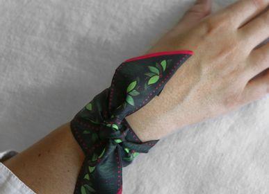 Foulards / écharpes - Fétiche à nouer 100 % twill de soie - bandeau/ruban - Pink Flowers - MAISON FÉTICHE