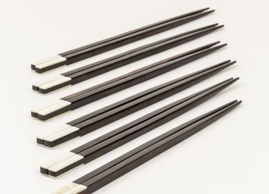 Cutlery service - Sets of 6 pairs of bi-material chopsticks - L'INDOCHINEUR PARIS HANOI