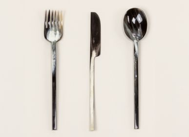 Cutlery service - Set of 3 small cutlery in natural horn - L'INDOCHINEUR PARIS HANOI
