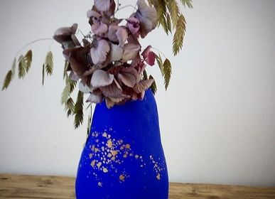 Vases - Vase en papier, collection Bleu Klein - SANDRA MASSAT
