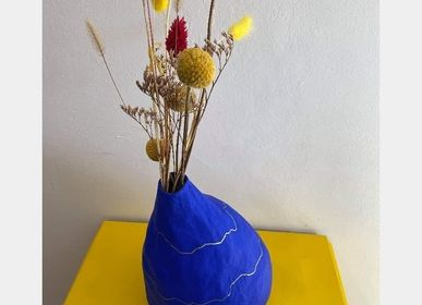 Vases - Paper vase, blue collection Klein - SANDRA MASSAT