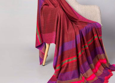 Throw blankets - Donna cashmere and wool throw - SADHU HANDMADE NATURALS