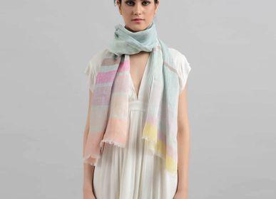 Foulards et écharpes - Foulard en lin Fleur - SADHU HANDMADE NATURALS