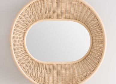 Mirrors - ONDE rattan mirror - ORCHID EDITION