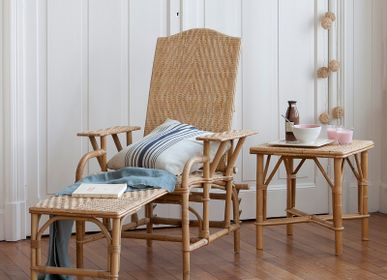Lounge chairs - GRAND-MERE rattan armchair - KOK MAISON