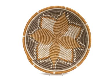 "Wall decoration - 14"" Extra Large Light Taupe Hope Round Basket - ALL ACROSS AFRICA + KAZI"