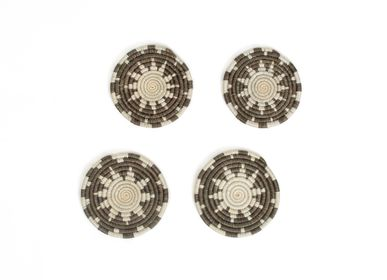 Stemware - Light Taupe Taraja Coasters, Set of 4 - ALL ACROSS AFRICA + KAZI