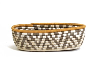 Platter, bowls - Light Taupe Bread Basket - ALL ACROSS AFRICA + KAZI