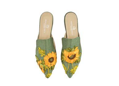 Shoes - Sunflower Slipper Shoes - AC ANATOLIANCRAFT