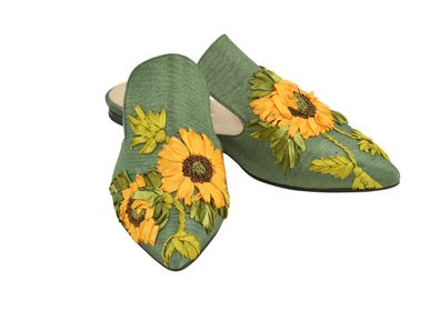 Shoes - Sunflower Slipper Shoes - AC ANATOLIANCRAFT