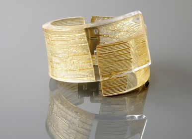 Jewelry - Bijoux Bracelet MX DACRYL 075 Gold Mesh - MX DESIGN
