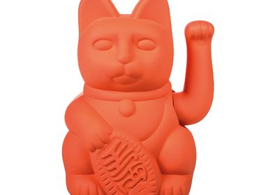 Objets de décoration - Maneki Neko / Chat Lucky / Orange fluo - DONKEY PRODUCTS