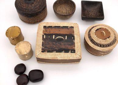 Objets de décoration - Boite écorce ou tronc de palmier - SARANY SHOP - CAMBODGE A PARIS