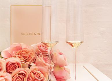 Cristallerie - Flûte à Champagne Estelle Gold Set de 2 - CRISTINA RE
