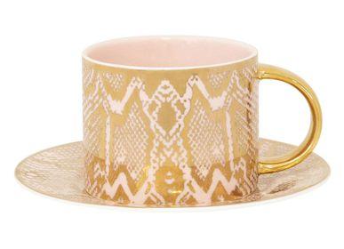Accessoires thé / café - Tasse à thé et soucoupe en peau de serpent Safari - CRISTINA RE