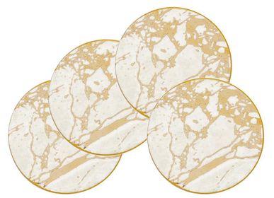 Table mat - White Celestite Set of 4 Drink Coasters - CRISTINA RE