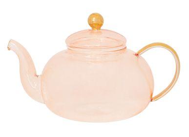 Accessoires thé / café - Théière en verre rose - CRISTINA RE
