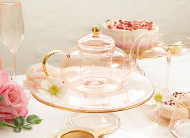Tea / coffee accessories - Rose Glass Teapot - CRISTINA RE