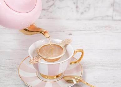 Tea / coffee accessories - Blush Stripes Teacup & Saucer - CRISTINA RE