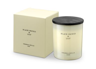 Candles - Premium Candle 230gr. Black Orchid & Lily - CERERIA MOLLA 1899 CANDLES