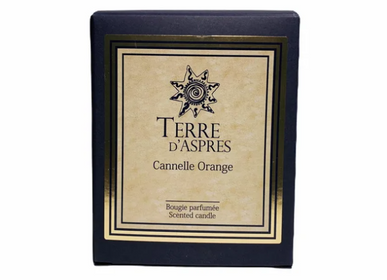 Bougies - Bougie Cannelle Orange - TERRE D'ASPRES BY TERRE D'ORIA