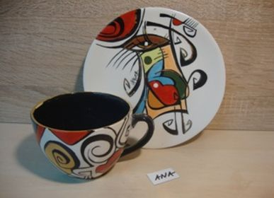 Ceramic - ENIGMA cups&saucers/ANA - ENIGMA