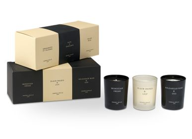 Candles - LUXURY GIFT SET 3 SMALL JARS - CERERIA MOLLA 1899 CANDLES