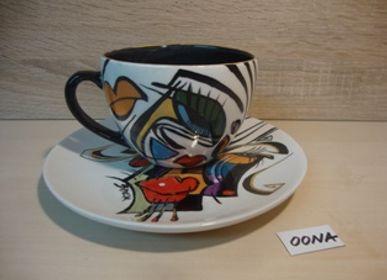Ceramic - ENIGMA cups&saucers/OONA  - ENIGMA