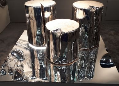 Decorative objects - STOOL - FUORILUOGO CHROME DESIGN