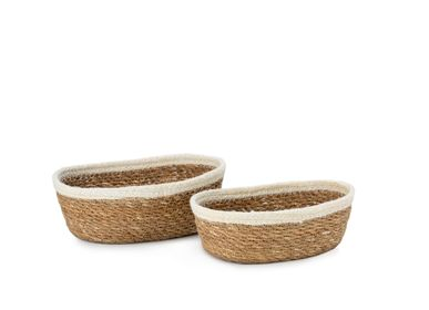 Trays - Set of 2 seagrass and jute baskets AX70193 - ANDREA HOUSE