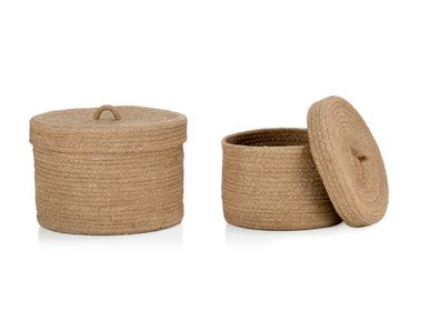 Casket / box - Set of 2 jute boxes AX70194 - ANDREA HOUSE