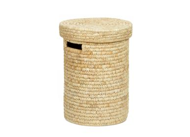 Laundry basket - Palm leaf laundry hamper BA70196 - ANDREA HOUSE