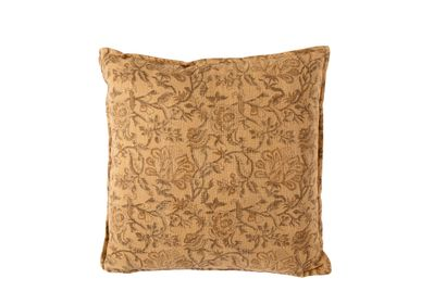 Fabric cushions - Spring camel cotton cushion AX70207 - ANDREA HOUSE