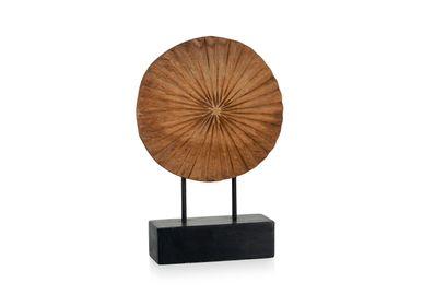 Sculptures / statuettes / miniatures - Statue soleil en bois de manguier AX70212 - ANDREA HOUSE