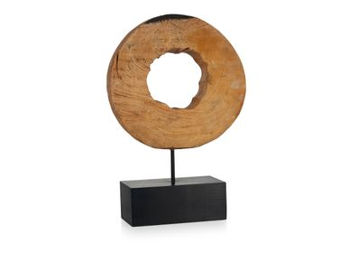 Sculptures / statuettes / miniatures - Statue maorie en bois de manguier AX70214 - ANDREA HOUSE