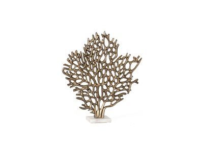 Sculptures / statuettes / miniatures - Coral tree aluminium and marble statue AX70221 - ANDREA HOUSE