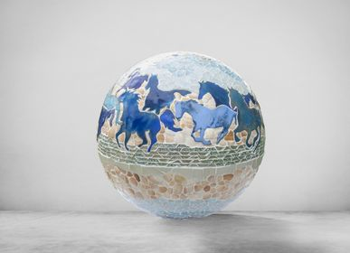 Unique pieces - Sphere, Horses and Shells - ATELIER DE MOSAIQUE L.TORNO