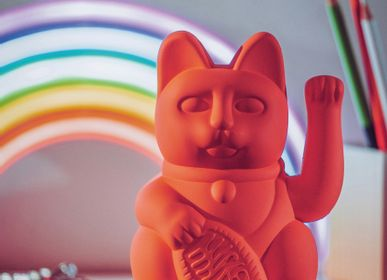 Decorative objects - Maneki Neko / Lucky Cat / Neon Orange  - DONKEY PRODUCTS GMBH & CO. KG