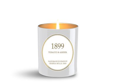Candles - Premium Vegetable Wax Candle in Glass 230 gr. Tobacco & Amber - CERERIA MOLLA 1899 CANDLES