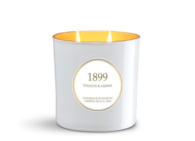 Candles - 2 Wick XL Vegetable Wax Candle in Glass 700 gr. - CERERIA MOLLA 1899 CANDLES