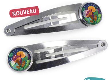 Hair accessories - Hair Clips Les Minis Champignons - LES MINIS D'EMILIE FIALA