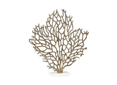 Sculptures / statuettes / miniatures - Coral tree aluminium and marble statue AX70222 - ANDREA HOUSE