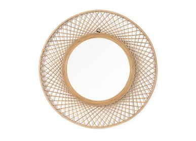 Decorative objects - Bamboo Wall Mirror AX70237 - ANDREA HOUSE