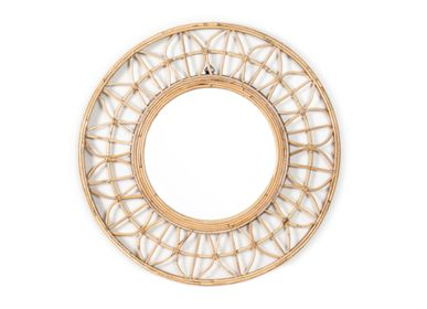 Decorative objects - Rattan wall mirror AX70238 - ANDREA HOUSE