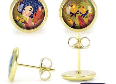 Jewelry - Ears Studs gold Les Parisiennes Automne - LES PARISIENNES D'EMILIE FIALA