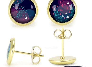 Jewelry - Ears Studs gold Les Parisiennes Vibrations - LES PARISIENNES D'EMILIE FIALA