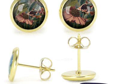 Bijoux - Puces d'oreilles dorées Les Parisiennes Helenium - LES PARISIENNES D'EMILIE FIALA