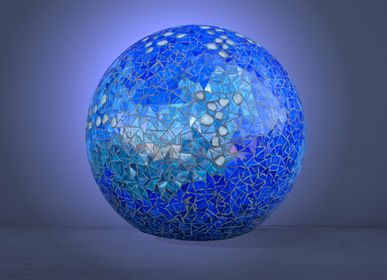 "Table lamps - Lamp ""Dream"" blue outdoor - ATELIER DE MOSAIQUE L.TORNO"