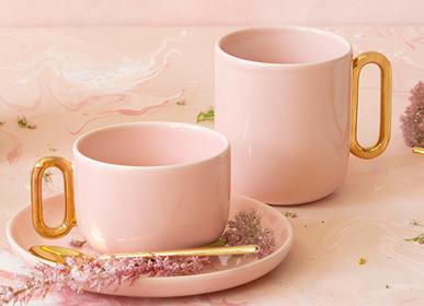 Accessoires thé / café - Tasse à thé et soucoupe Céline Luxe Blush - CRISTINA RE