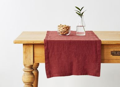 Table cloths - Red Pear Table Runner - LINEN TALES